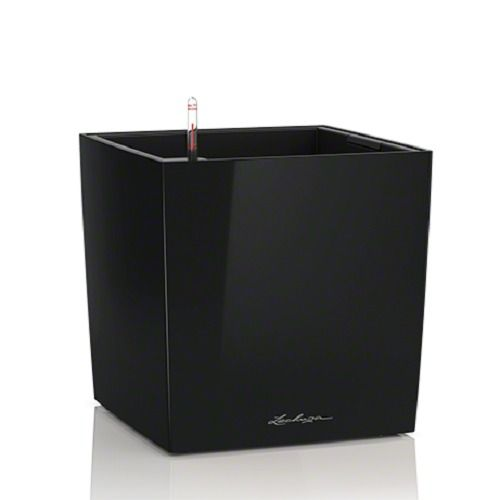 Lechuza Cube PREMIUM 30 All-in-One-Set, schwarz hochglanz